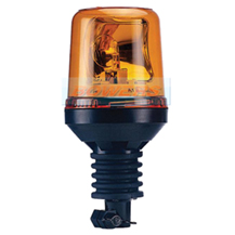 12v/24v Flexi DIN Pole/Stem Mounted Rotating Halogen Amber Beacon